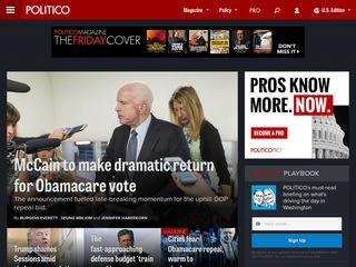 Politico.com - Politics, Policy, Political News